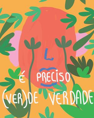 Arte para o texto (Ver)de)(Verdade)) do Pedro Pirim
