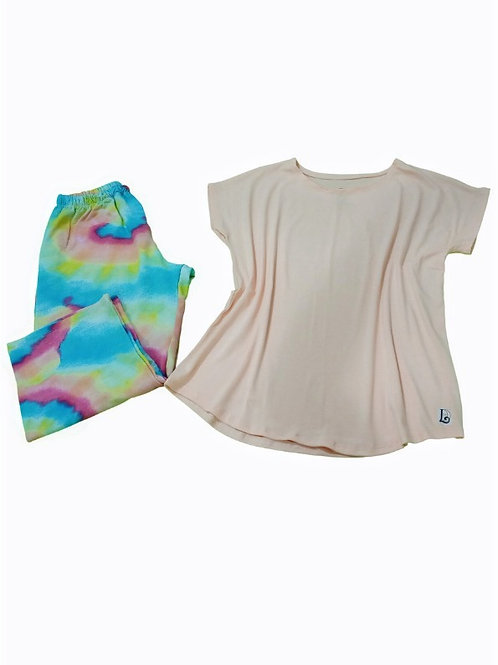 Pijama Feminino Tie Day Capri