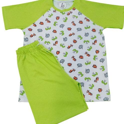 Pijama Infantil Safari Curto