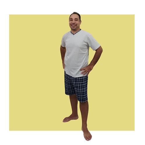 Pijama Masculino Curto Xadrezinho