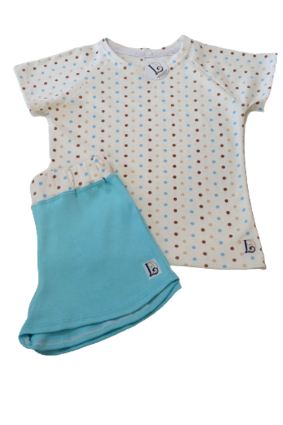 Pijama  Infantil Poa Off-white cores