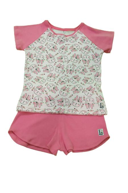 Pijama Curto Infantil Coelha Índia