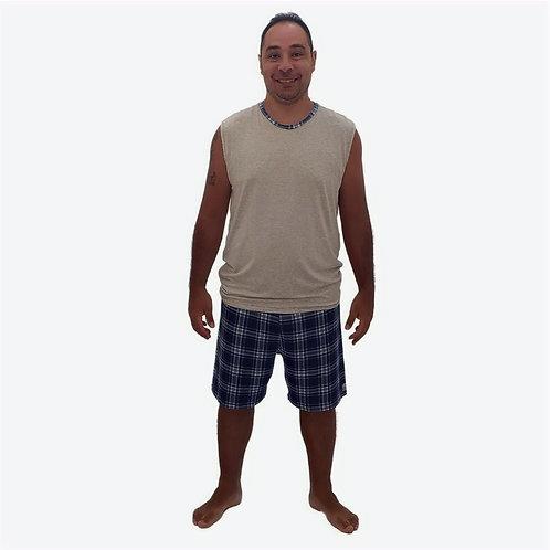 Pijama Masculino Curto Xadrez