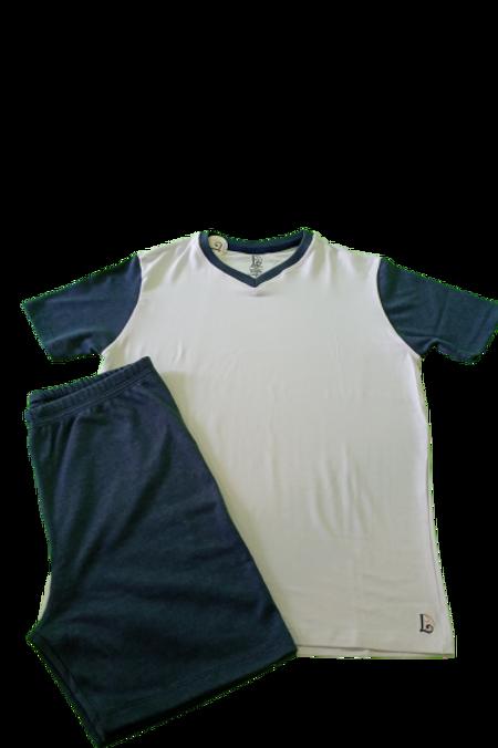 Pijama Juvenil Petroleo/Branco