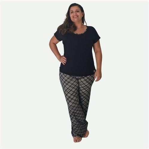 Pijama Feminino Xadrez