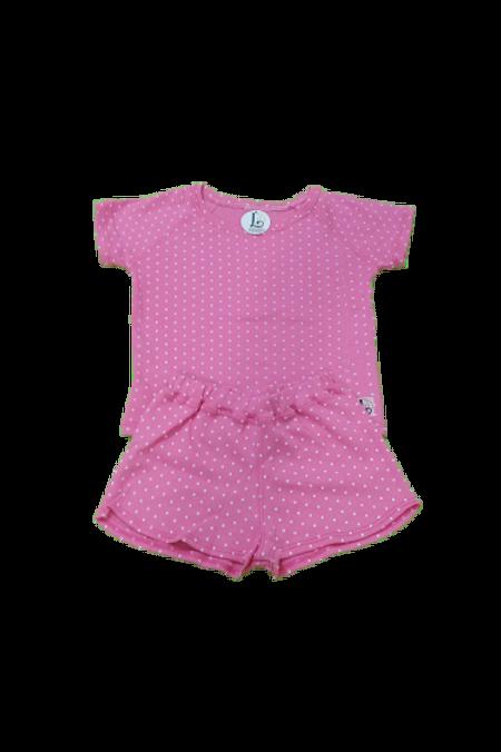 Pijama curto Rosa Poa infantil
