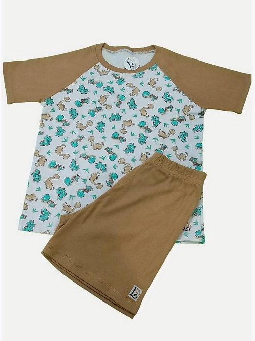 Pijama Infantil Curto Dino