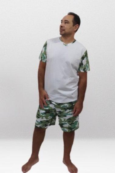 Pijama Masculino Camuflado Verde