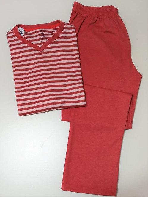 Pijama Vermelho listra longo