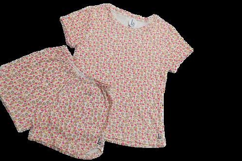 Pijama curto Floral Rosa Juvenil