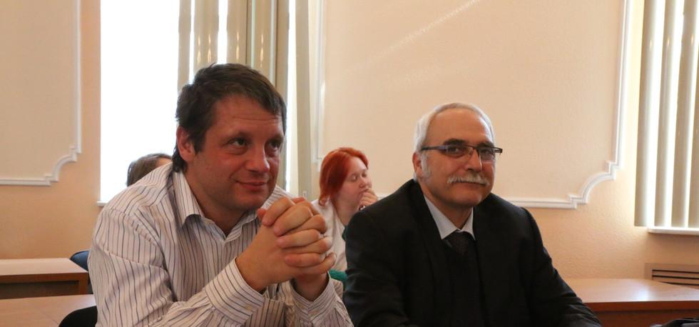 Лекции в ИГМУ Мирча Ширика и Патрис Марш
