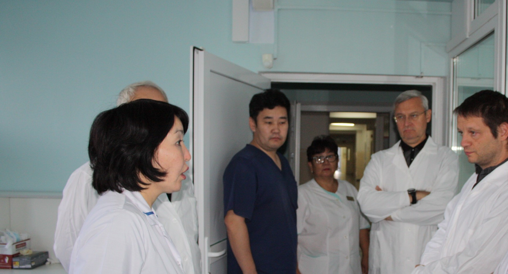 Посещение больницы в пос. Еланцы