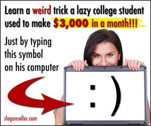Slogan seller great job to do online