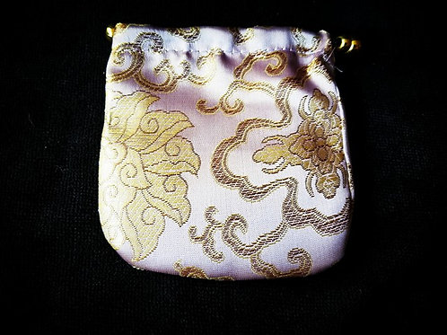 Large Silk Stone Pouch