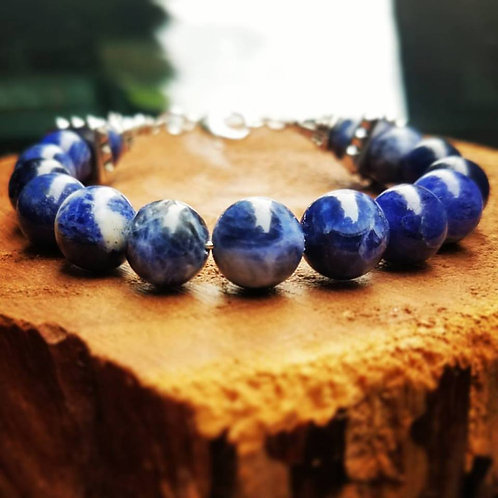 10mm Blue Sodalite & Silver