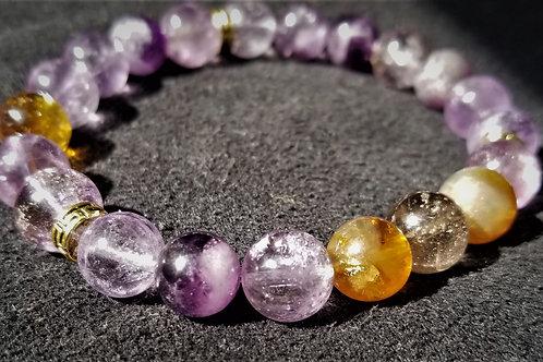 amethyst and ametrine bracelet