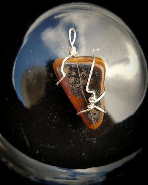 Wirewrapped Tiger's Eye Pendant