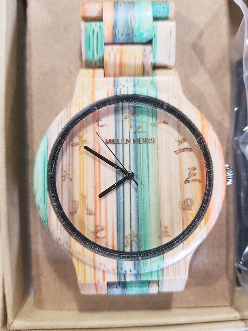 Multicolored Wooden Watch