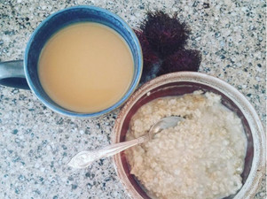 Breakfast with the Millens-Oatmeal & Black Beans