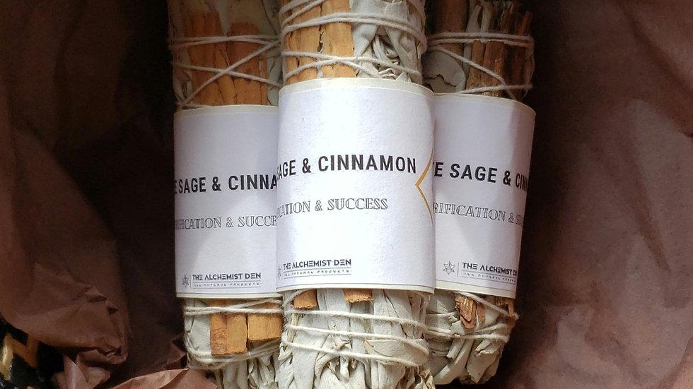 White Sage & Cinnamon Smudge Wand