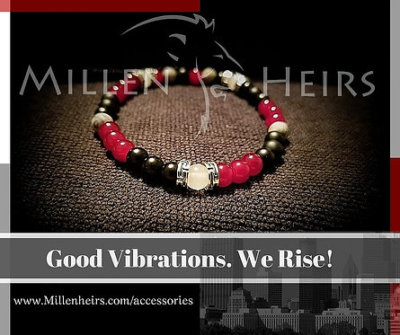Atlanta Falcons themed beaded bracelet