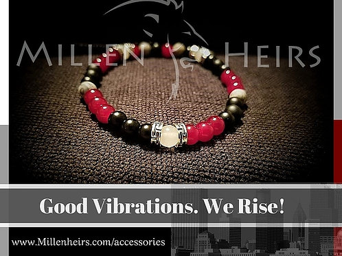 Atlanta Falcons themed beaded bracelet