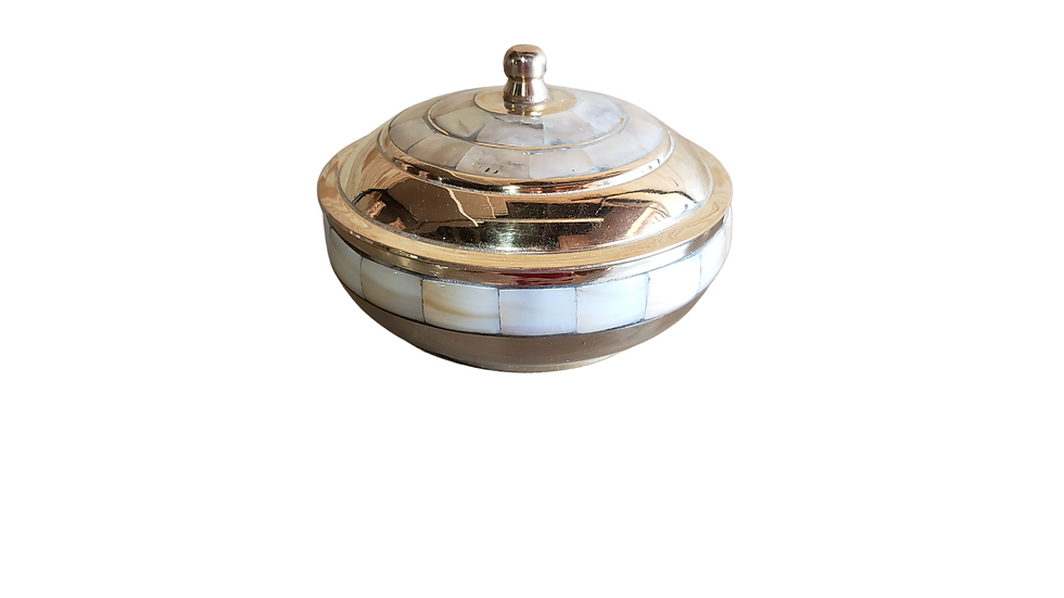 BRASS BOWL - MOTHER OF PEARL INLAY