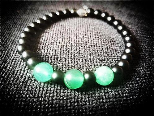 Black Onyx & Green Aventurine Bracelet