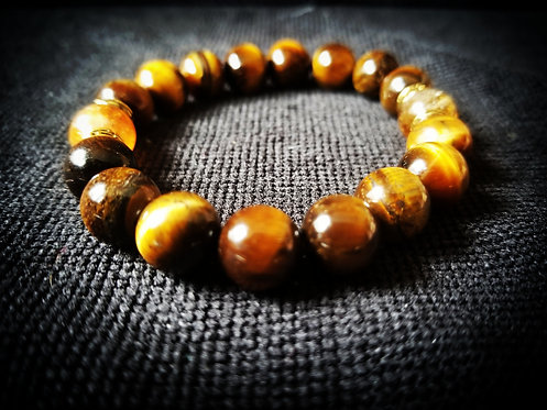 Tiger's Eye with Citrine beaded bracelet