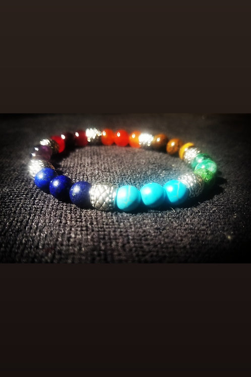 8mm Chakra Healing Bracelet