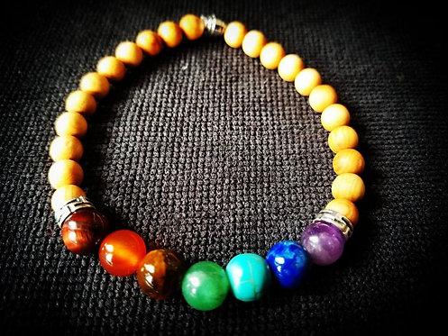 Sandalwood Chakra Healing Bracelet