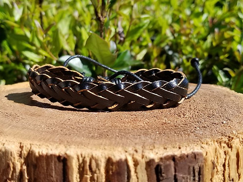 Black Braided Surfer bracelet