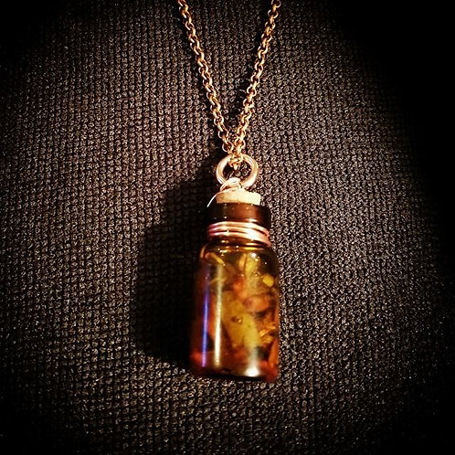 Soplo De Vida Anointing Oil Mini Vial Necklace