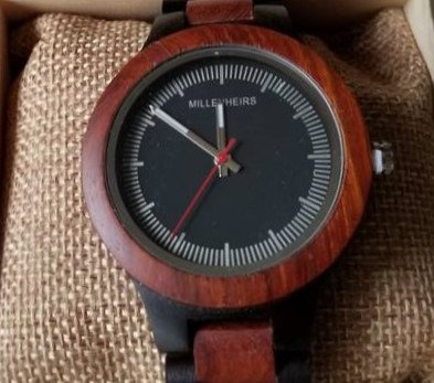 Red Maple & Ebony Wooden Watch