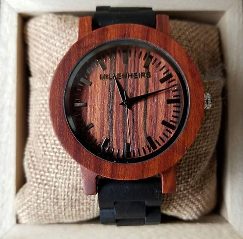 Red Sandalwood & Ebony Wooden Watch