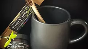 Activated Charcoal Tooth Powder & Toothbrush Combo