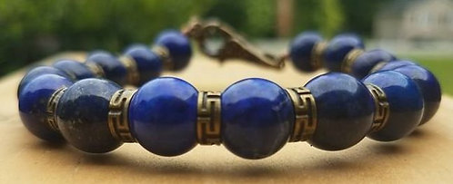 10mm Blue Lapis Lazuli Bracelet