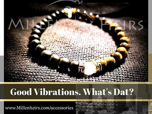 New Orleans Saints themed Beaded Bracelet