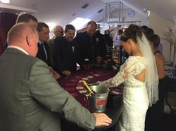 Bride Dealing blackjack