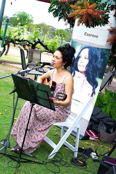 Singing at Swanbrook Winery- photo by Sapphire Film Productions