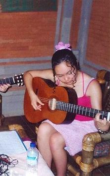 Performing my original songs in Bali at age 14