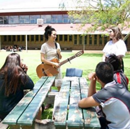 Outdoor song writing workshop
