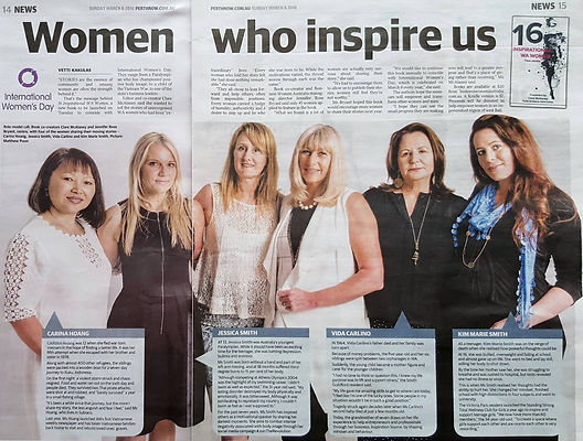 Article about '16 Inspirational WA Women' book in the Sunday Times!
