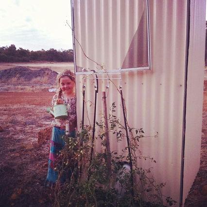 Jewel has named her garden 'Tomato Queen'