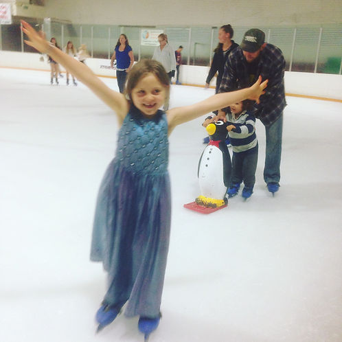 My little Jewel ice skating at her 6th birthday party!