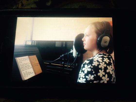 Ash's first time recording professionally at the age of 10!