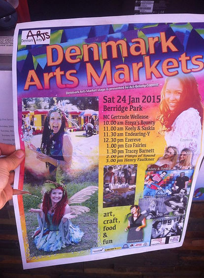 Flyer promoting our show in Denmark