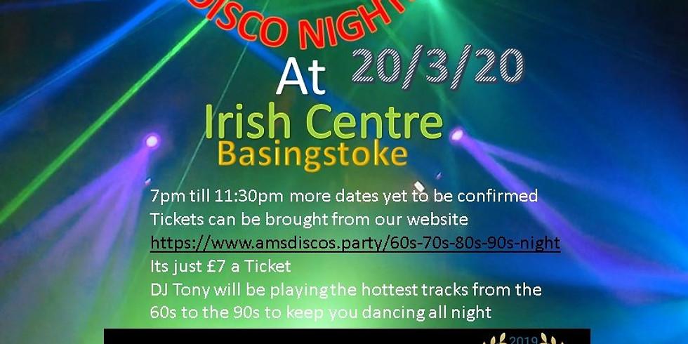 60s 70s 80s 90s night at the Irish Centre 20/3/2020