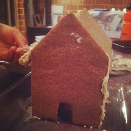 My... I mean... OUR gingerbread house :)