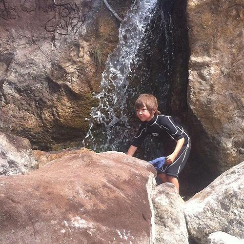 Exploring waterfalls in Denmark